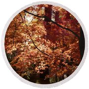 Lovely Autumn Tree Round Beach Towel