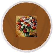 Lovely Bouquet Round Beach Towel