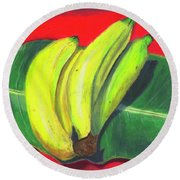 Lovely Bunch Of Bananas Round Beach Towel