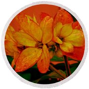 Lovely Flowers1 Round Beach Towel
