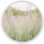 Lovely Lavender Round Beach Towel