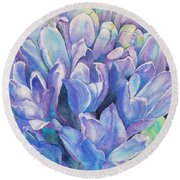 Lovely Lupine Round Beach Towel