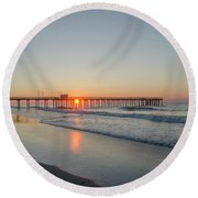 Lovely Morning In Avalon Round Beach Towel