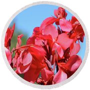 Lovely Pink Flowers  Round Beach Towel
