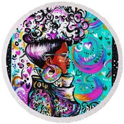 Lovely Round Beach Towel