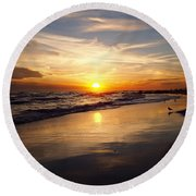 Lovely Sunset Round Beach Towel