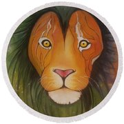 Lovelylion Round Beach Towel