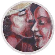 Lovers - Amore Round Beach Towel