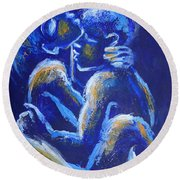 Lovers - Night Of Passion 4 Round Beach Towel