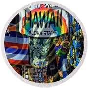 Lovin' 808 Round Beach Towel