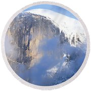 Low Angle View Of A Mountain Covered Round Beach Towel