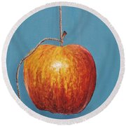 Low Hanging Apple Round Beach Towel
