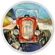 Low Rider Round Beach Towel