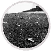 Low Tide At Linwood's House 26 Round Beach Towel