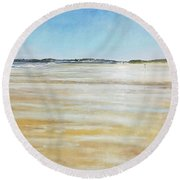 Low Tide North Round Beach Towel