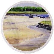 Low Tide Parsons Round Beach Towel