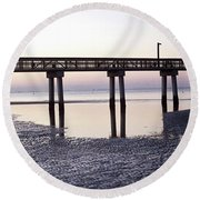 Low Tide Reflected Gp Round Beach Towel