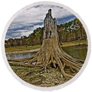 Low Water Round Beach Towel by Scott Pellegrin