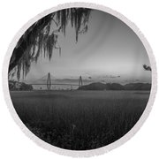 Lowcountry Ghost Round Beach Towel