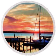 Lowcountry Leisure Round Beach Towel