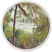 Lowcountry Summer Round Beach Towel