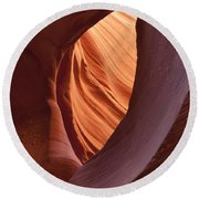 Lower Antelope Canyon 2 7898 Round Beach Towel