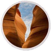 Lower Antelope Slot Canyon, Page, Arizona Round Beach Towel