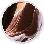 Lower Antelope Slot Canyon Round Beach Towel