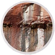 Lower Emerald Pool Rock-zion National Park Round Beach Towel