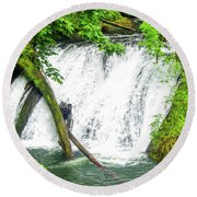 Lower Falls 4 Round Beach Towel