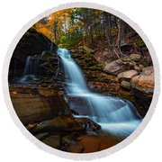 Lower Kaaterskill Falls Round Beach Towel