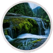 Lower Lewis Falls 1 Round Beach Towel