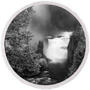 Lower Mesa Falls Round Beach Towel