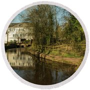 Lower Mill Of Cullompton  Round Beach Towel