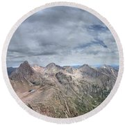 Lower North Eolus From The Catwalk - Chicago Basin - Weminuche Wilderness - Colorado Round Beach Towel