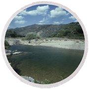 Lower Sisquoc River - San Rafael Wilderness Round Beach Towel
