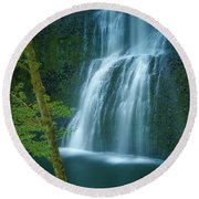 Lower South Falls Round Beach Towel