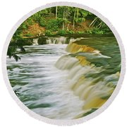 Lower Tahquamenon 6200 Round Beach Towel