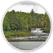 Lower Tahquamenon Falls 4 Round Beach Towel
