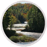 Lower Tahquamenon Falls  4349 Round Beach Towel
