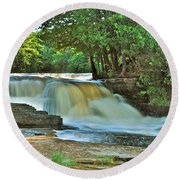 Lower Tahquamenon Falls Round Beach Towel