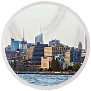 Lower West Side On The Waterfront Round Beach Towel