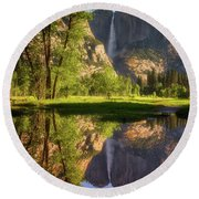 Lower Yosemite Morning Round Beach Towel