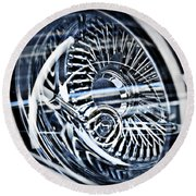 Lowrider Wheel Illusions 1 Round Beach Towel