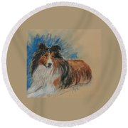 Loyal Companion Round Beach Towel