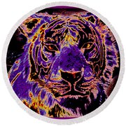 Lsu Tiger Round Beach Towel