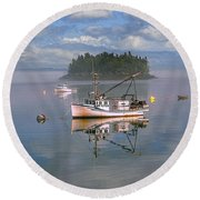 Lubec Waterfront Round Beach Towel