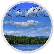 Luby Bay On Priest Lake Round Beach Towel