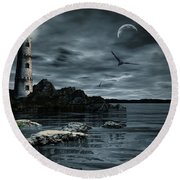 Lucent Dimness Round Beach Towel