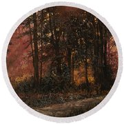 Luci Nel Bosco Round Beach Towel
